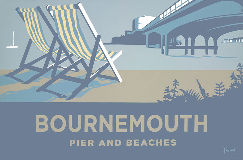 Blue Deckchair, Landscape, Bournemouth and the Purbecks, Dorset