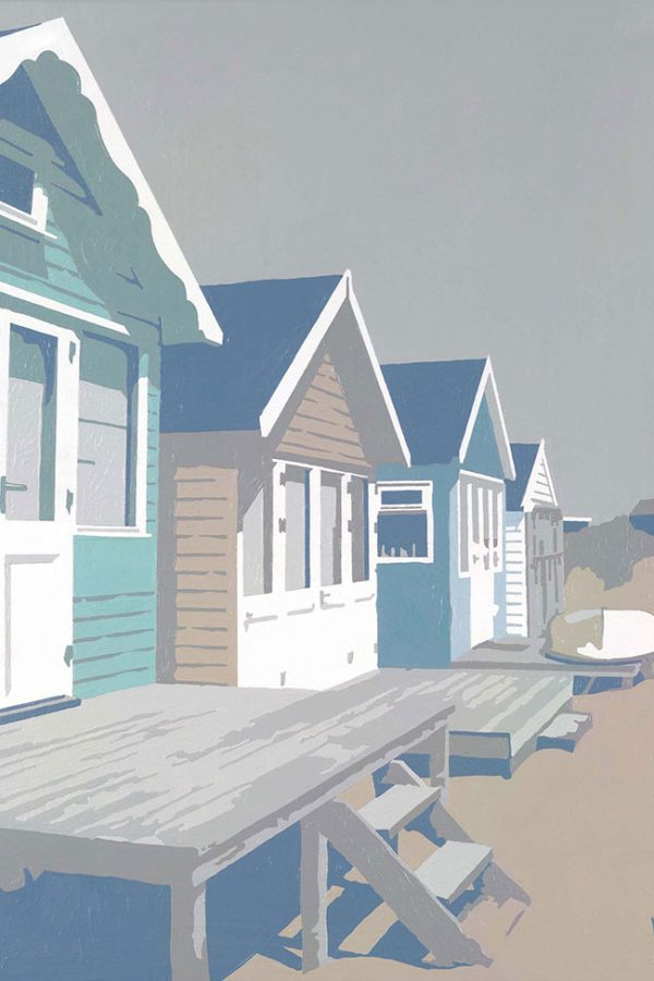 Mudeford Beach Huts, Blue, Dorset