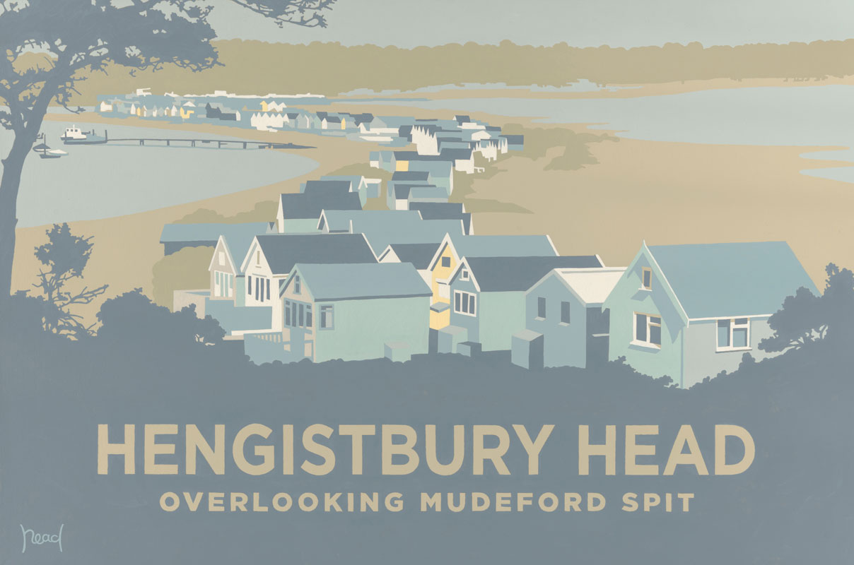Hengistbury Head Overlooking Mudeford Spit Stevereadart